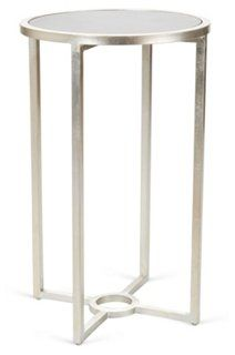 One Kings Lane - Top Tables - Palmer Side Table, Silver