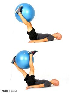 The Best Stability Ball Exercises for Core Training - Stability Ball Leg Twists