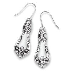 J609479 - Antiqued Sterling Silver Spoon Earrings | Nature's Jewelry