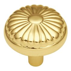 Hickory Hardware P211 Eclipse 1-1/4 Inch Diameter Mushroom Cabinet Knob Ultra Brass Cabinet Hardware Knobs Mushroom