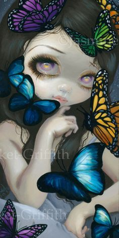 Jasmine Becket-Griffith art BIG print SIGNED A Confusion of Wings butterfly girl