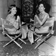 Bette Davis and Joan Crawford looking deceivingly happy next to each other on the set of What Ever Happened to Baby Jane? These two had an extremely bitter (and sometimes violent) rivalry going between them since before they even met in person. Vying for the spotlight or the same man, pulling publicity stunts to embarrass each other, and even injuring each other while filming together.