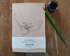 Cuaderno de notas - Ilustración de Fantasía - Pájaro