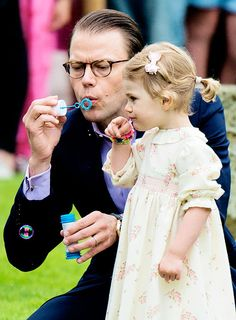 Prince Daniel and Princess Estelle of Sweden.