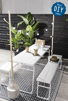 New cheap patio furniture diy ikea hacks ideas Small Patio Spaces, Small Space Living, Living Spaces, Small Patio Design, Cheap Patio Furniture, Garden Furniture, Outdoor Furniture Small Space, Diy Furniture, Contemporary Outdoor Furniture