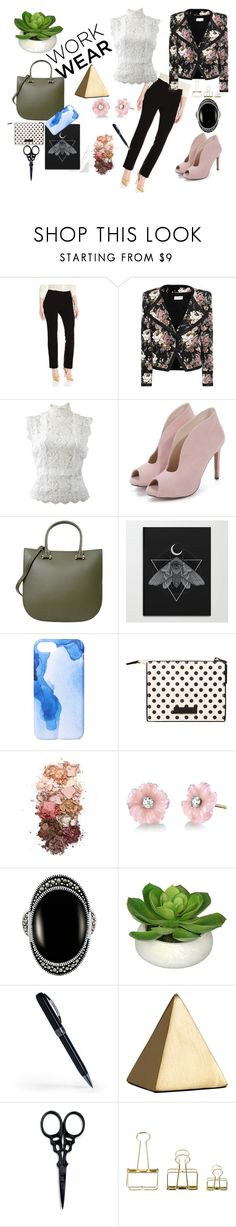 """Work wear"" by olivialeegriffin on Polyvore featuring Rafaella, Yves Saint Laurent, Oscar de la Renta, PARENTESI, Ankit, MANGO, Sigma, Irene Neuwirth, Le Vieux and Visconti"