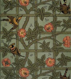 William Morris wallpaper design from 1864.