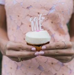 'eat me' cupcake topper