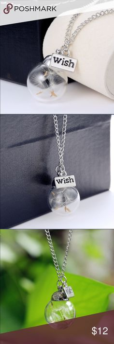 Dandelion wish glass bottle necklace Dandelion wish glass bottle necklace Jewelry Necklaces