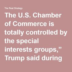 "The U.S. Chamber of Commerce is totally controlled by the special interests groups,"" Trump said during his Wednesday rally in Bangor, Maine. ""They're a special interest that want to have the deals that they want to have. They want to have TPP—Trans Pacific Partnership. It'll be the worst deal since NAFTA. It'll drive the rest of your businesses out of Maine, believe me. It'll be the worst deal since NAFTA.""  Trump explained that the Chamber does not care about the working men and women of…"