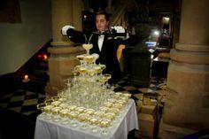 Gatsby Champagne Tower Champagne Tower, Gatsby, Cake, Desserts, Food, Tailgate Desserts, Deserts, Kuchen, Essen
