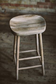 Weathered oak stool by The Olive Tree Shop