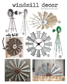 Find out where to buy Fixer Upper windmill decor just like Joanna Gaines uses in her designs! www.theharperhouse.com