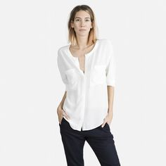 The Silk Pocket - White - Everlane