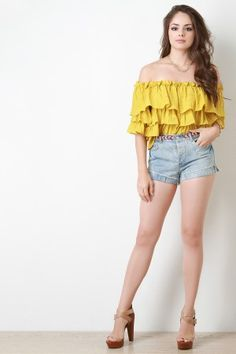 Shop Colorful Braid Belt Denim Shorts featuring faded denim, five pockets, colorful braided belt, button-up closure, and frayed ends. Denim Shorts Style, Denim Jacket With Dress, Jean Shorts, Fashion Tights, Weird Fashion, Cute Girl Outfits, Short Outfits, Top Clothing Stores, Stylish Dresses For Girls