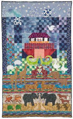 Quilt Inspiration: Legends and dreams: Noah's ark and Sugarplum Village