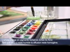 Vidéo : Aquarelle sur du papier Clairefontaine   l'Atelier Géant
