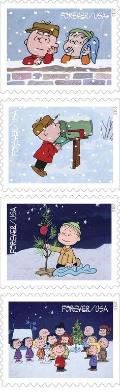 MASHABLE (October 2, 2015 ~ ~ Charlie Brown postage stamps for Christmas!