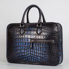 Alligator Briefcase Crossbody Laptop Business Bag for Men Leather Briefcase,  Wholesale Handbags, Laptop Bag e1dbfbe389