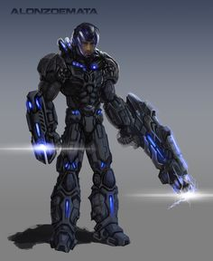Sci Fi Games, Futuristic Armour, Robots, Weapons, Concept Art, Battle, Places To Visit, Behance, Suits