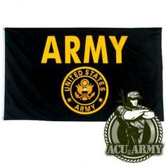 Anley Fly Breeze Foot US Army Gold Crest Flag - Vivid Color and UV Fade Resistant - Canvas Header and Double Stitched - United States Military Flags Polyester with Brass Grommets 3 X 5 Ft Us Army Flag, Army Party, Outdoor Flags, Outdoor Decor, Military Love, American Pride, American Flag, United States Army