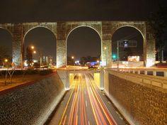 Aqueduct - Queretaro, Mexico  Mini expressways !