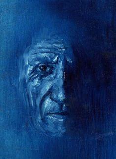 """Pablo Picasso """" - Oil on paper .  Giuseppe Velardo"""