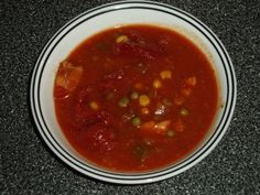 Tomato Vegetable Soup/Stew with Chicken Breast Recipe by DRJELLO via @SparkPeople