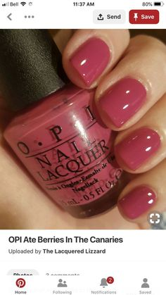 Here are the 10 most popular nail polish colors at OPI - My Nails Opi Nail Polish Colors, Pink Nail Colors, Opi Nails, Opi Colors, Sinful Colors, Cute Nails, Pretty Nails, Nagel Gel, Manicure And Pedicure