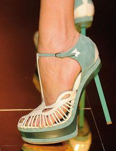 Mint heels / john galliano YaseminAksu