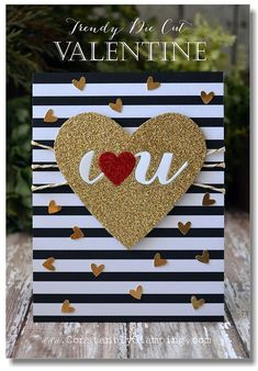 Connie Collins: Constantly Stamping: Trendy Die-Cut Valentine! - 2/7/15 (SU products)