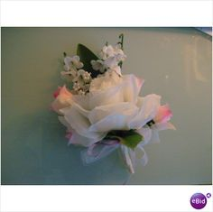 lovely wedding corsage in pink and white used once on eBid United Kingdom