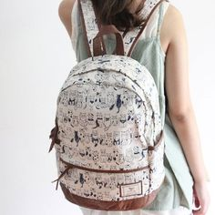 Fresh Sweet leisure Cat Print Backpack for only $34.99 ,cheap Fashion Backpacks - Fashion Bags online shopping,This Fresh Sweet leisure Cat Print Backpack can match with a leisure loafers, a sweet skirt, T-shirt, this bag is the perfect companion for schooling or travelling