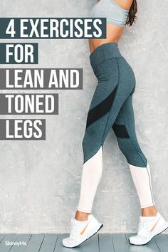 From troublesome thighs to stick-like calves, the legs are a problem area for many of us. Here are 4 leg toning exercises for lovely legs.