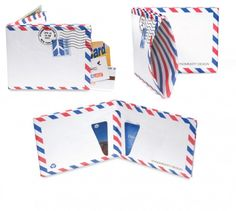 Who would've known that the simple stationary staple the padded envelop could be recycled into a MIGHTY WALLET. MIGHTY WALLET'S… View Post Mighty Wallet, Billfold Wallet, Recycling, Sewing, Airmail, Blog, Nifty, Envelopes, Stitches