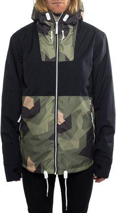CLWR Block Ski/Snowboard Jacket, L, Black