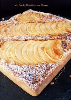 La Tarte Noisettine aux Pommes - C&B Cakes&Biscuits - Cakes Köstliche Desserts, Dessert Recipes, French Sweets, Mousse Au Chocolat Torte, Biscuits, Love Food, Sweet Recipes, Bakery, Food And Drink