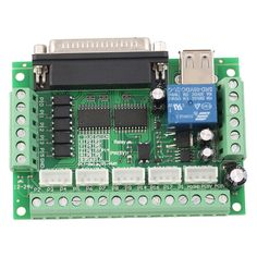 Upgraded 5 Axis CNC Interface Adapter Breakout Board For Stepper Motor Driver Mach3 +USB Cable hot sale