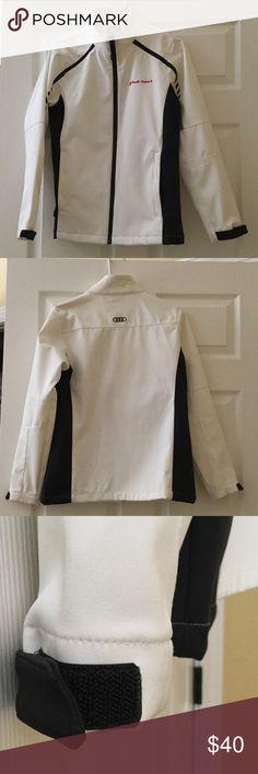 New Audi jacket Race style Audi warm wind breaker jacket with Velcro adjustable sleeves. Jackets & Coats Utility Jackets