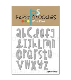 Paper Smooches Die-Alphawhimsy