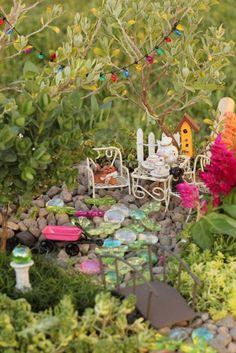 Once upon a Fairy Garden - puppy tea party