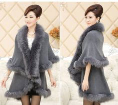 2014 Fashion Noble Long Wool Cashmere Imitation Fox Fur Coat Double Cardigan Women Poncho Shawl Winter Autumn-in Fur & Faux Fur from Apparel & Accessories on Aliexpress.com | Alibaba Group