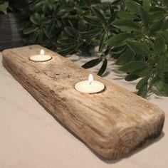 Bougeoir en bois flotté par IslandRainStorm sur Etsy, $19.00