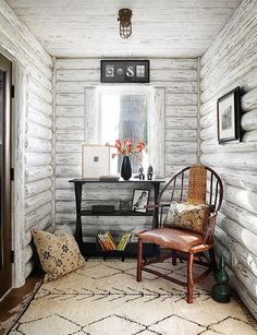 Whitewashed Lake Cabin by Jessica Jubelirer Design