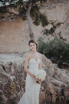 Elegant Spanish Wedding Styled by Paloma Cruz Eventos with Inbal Dror Bridal Gown & Pink Marchesa Bridesmaid Dresses