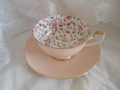 Shelley china tea cup and saucer in the beautiful and rare Briar Rose chintz pattern in the lovely Boston shape