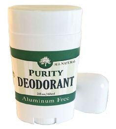 PURITY All Natural Deodorant ~ Handmade With Essential Oils Aluminum Free