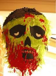 Build your own zombie pinata and warm up for the apocalypse. Use extra glue if it's only adults playing.