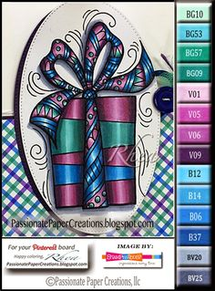 Passionate Paper Creations: Stampendous Pen Pattern Christmas Day 2