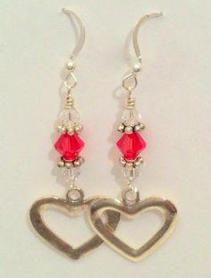 Open Hearts Dangle Earrings